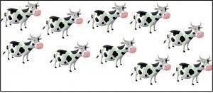 Multiplicación 10 vacas por 4 patas